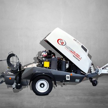 cementdeklvoermachine aanhangwagen