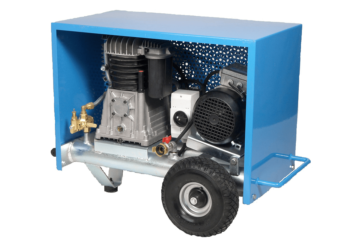 Spackspuit compressor